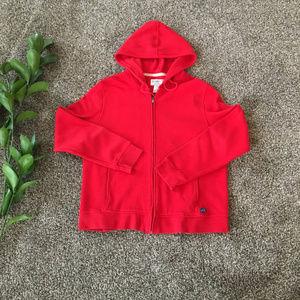Pendleton Red Zip Up Hoodie Jacket Size L